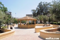 Gazebo in a garden by the Balzan's Parish Church