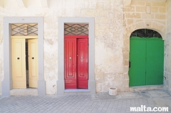 traditionnal Maltese doors in Balzan