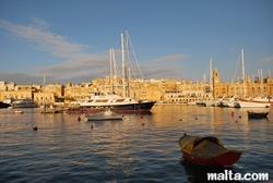 Boats in front of the casino