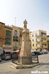 nice Christian Statue in the Vittory Square of Vittoriosa Birgu