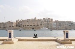 View of Senglea from the Vittoriosa Birgu Marina