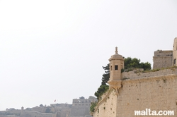 Watchtower of the Fort St Angelo in Vittoriosa Birgu