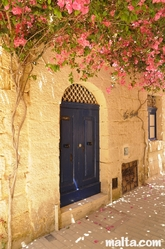 Cute house door in a Birkirkara's narrow street