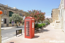 English Phone box in Birkirkara's Street