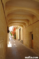 Narrow cover street in Birkirkara