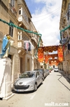 Fest decoration in the floriana's streets