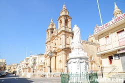 Zebbug Square and the Gudja Parish Church in Gudja