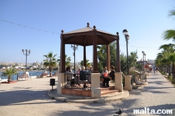 Gazebo in a small park by the promenade in Gzira
