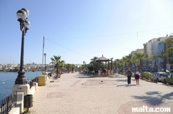The Gzira sea promenade