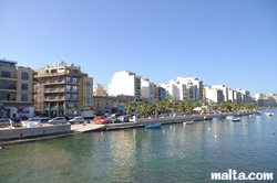 View of Gzira from Manoel Island