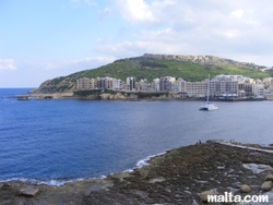 Marsalforn bay and the sea