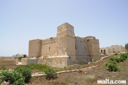 The St Thomas Wignacourt Tower in Marsascala