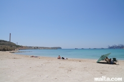 Small beach in Marsaxlokk