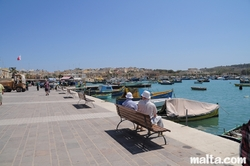 The Promenade by the Marsaxlokk's harbour