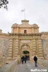 Mdina's main gate