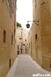 Quiet street of Mdina