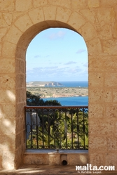 Comino from the Parish church court
