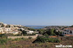Nice area in Mellieha with St Paul Island in the background