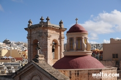 Roofs and chapel in Mellieha