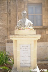 monument of Dun Karm Caruana in nadur gozo
