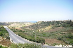 Path leading to Nadur countryside in Gozo