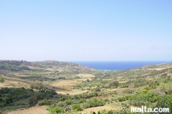 Views from Nadur gozo towards the sea