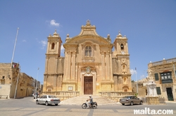 Front of the Assumption parish church of Qrendi