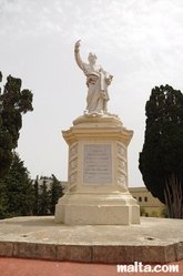 Statue in the Rabat Parish church garden