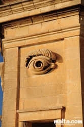 The eye of the Gardjola in Senglea