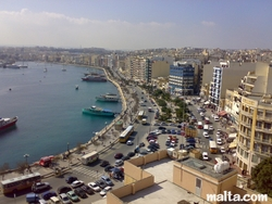 The Sliema Harbour and strand