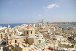 View of the Roof of Sliema with Valletta in the Background
