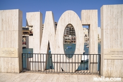 Love Monument in St Julian's Spinola Bay