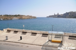 View of Manoel Island and Valletta from Ta'xbiex
