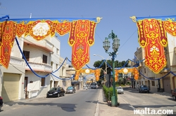 Decorated street of Tarxien for the feast