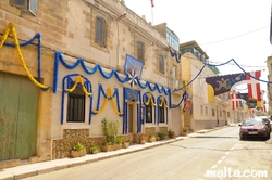 Decoration in the streets of Tarxien