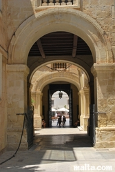 Arches in the street of valletta