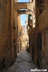 Narrow street and strairs in Valletta