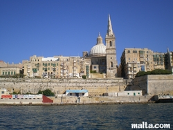 Valletta sea front