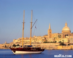 View of Valletta and the marsamxett Harbour