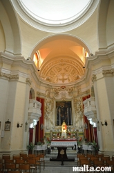 Inside the St James Church in Zurrieq