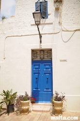 Nice maltese house door in Zurrieq