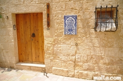 Traditional house door in Zurrieq