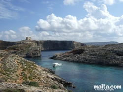 Cliffs in Blue Lagoon Comino