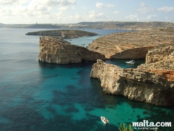 Comino's Blue lagoon and Gozo from Santa Maria wathctowe