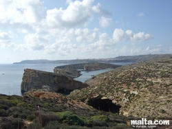 Comino's Blue Lagoon from the santa maria Watchtowe