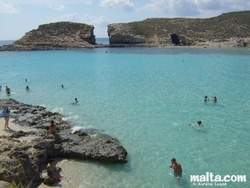 The wonderful blue Lagoon of Comino