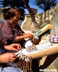 The traditional Maltese lace making