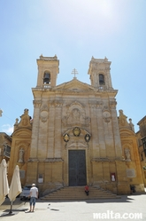 Front of the St George's Basilica in Victoria gozo