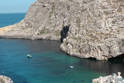 view of xlendi bay from sea star apartments