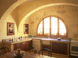 kitchen dining  at ta louis farmhouse gozo